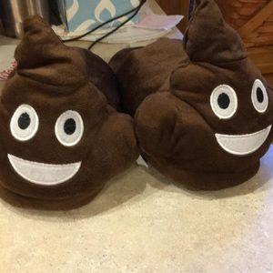 Youth Emoji poop slippers